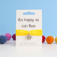 As Happy As Can Bee Stretch Bracelet - child size