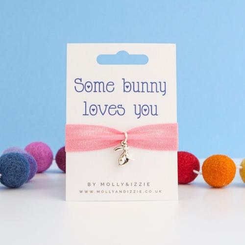 Bunny Loves You Stretch Bracelet - child size