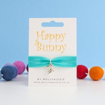 Happy Bunny Stretch Bracelet - child size