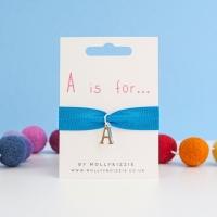 Initial Letter Stretch Bracelet - child size