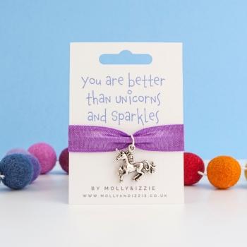 Unicorn & Sparkles Stretch Bracelet - child size