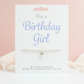 Birthday Girl Beaded Bracelet - Child Size