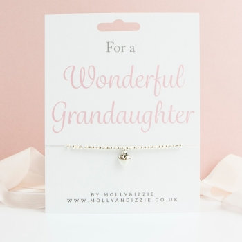 Grandaughter Beaded Bracelet - Child Size
