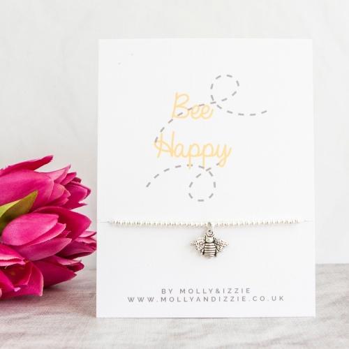 Bee Happy Beaded Bracelet - Adult Size
