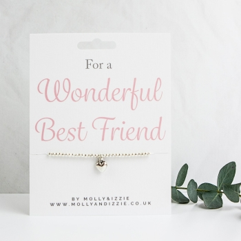 Best Friend Beaded Bracelet - Adult Size
