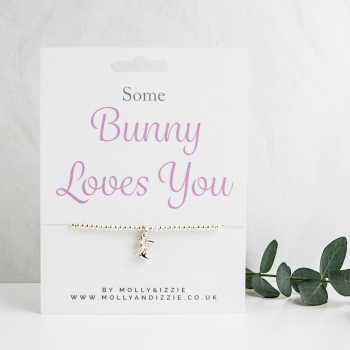 Bunny Loves You Beaded Bracelet - Adult Size