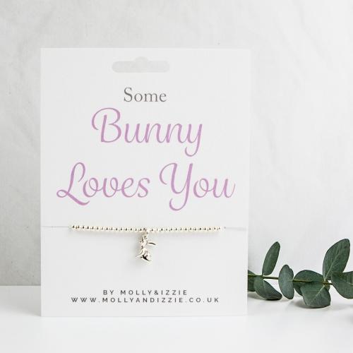 Bunny Loves You Beaded Bracelet - Adult Size