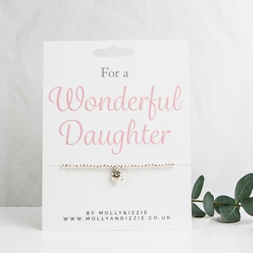 Daughter Beaded Bracelet - Adult Size
