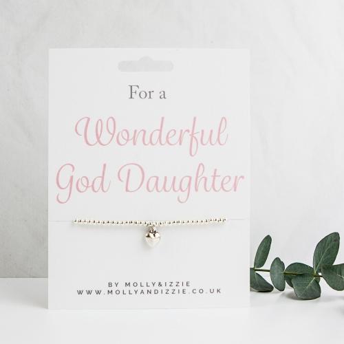 God Daughter Beaded Bracelet - Adult Size