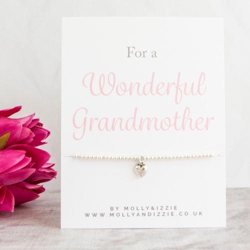 Grandmother Beaded Bracelet - Adult Size