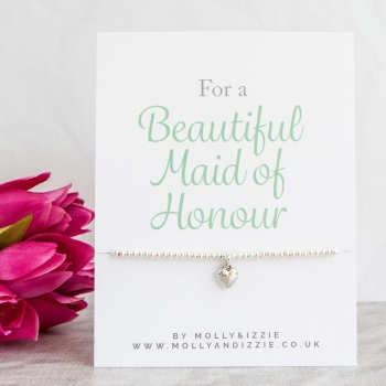 Maid of Honour Beaded Bracelet - Adult Size