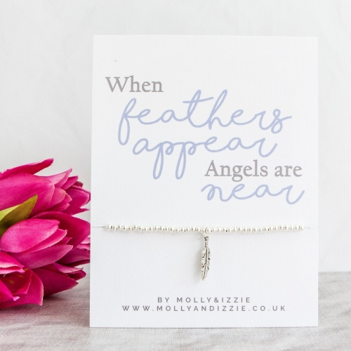 When Feathers Appear Beaded Bracelet - Adult Size