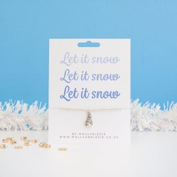 Let It Snow Beaded Bracelet - Child Size