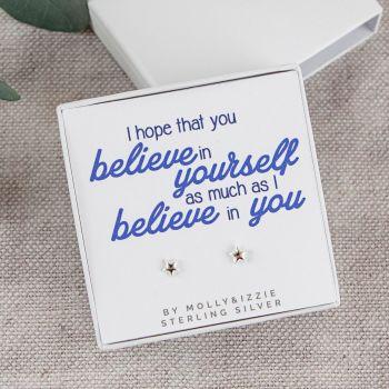 Believe in Yourself Sterling Silver Earrings