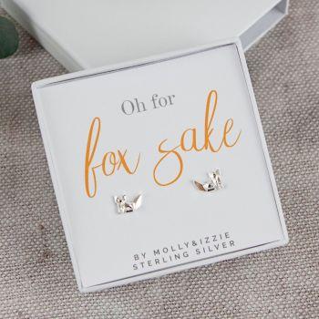 Fox Sake Sterling Silver Earrings