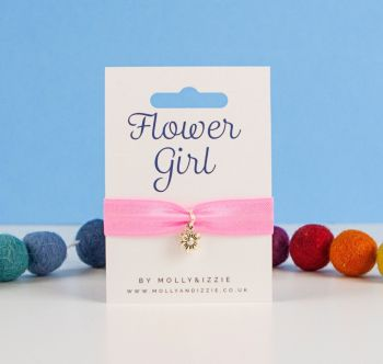 Flower Girl Stretch Bracelet - Child size