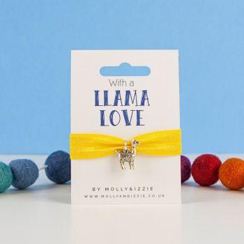 llama Love Stretch Bracelet - Child size