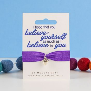 Believe In Yourself Stretch Bracelet - adult size