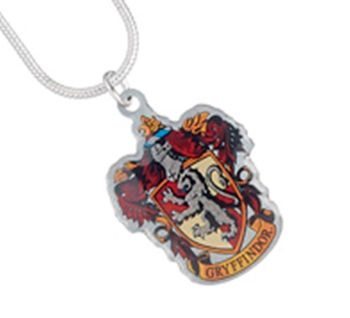 Harry Potter Gryffindor Crest Necklace - Silver Plate