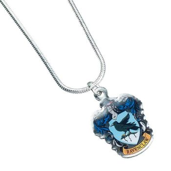 Harry Potter Ravenclaw Crest Necklace - Silver Plate