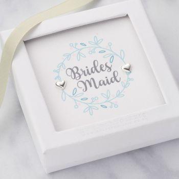 Wedding Party Member Sterling Silver Earrings