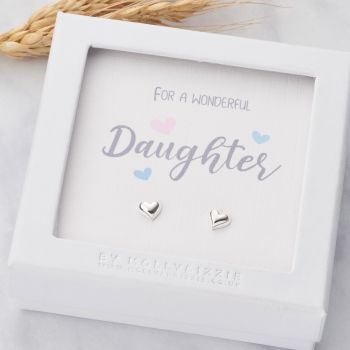 Daughter Sterling Silver Earrings ER017