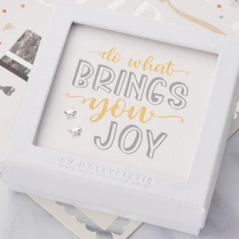 Do What Brings You Joy Sterling Silver Earrings