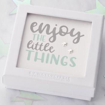 Enjoy The Little Things Sterling Silver Earrings