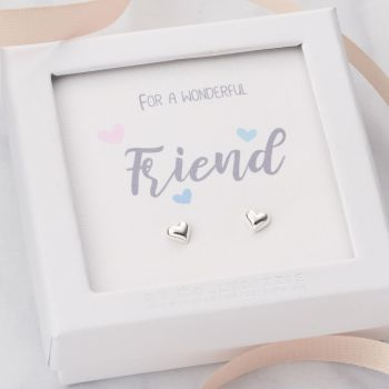 Friend Sterling Silver Earrings ER030