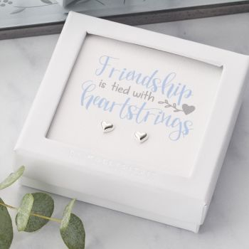 Friendship Is Tied With Heartstrings Sterling Silver  ER031