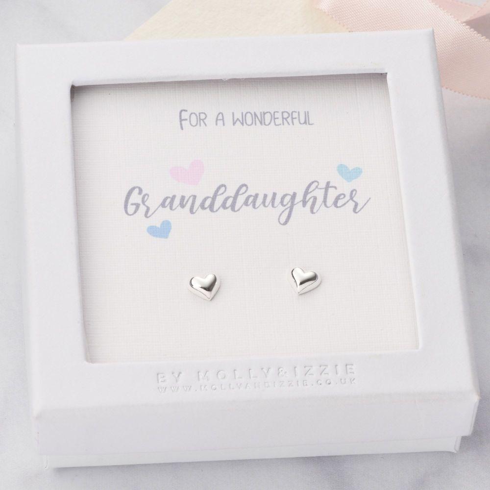 Granddaughter Sterling Silver Earrings