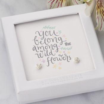 You Belong Among The Wildflowers Sterling Silver Earrings