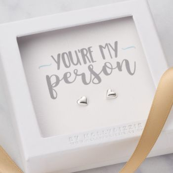 You're My Person Sterling Silver Earrings