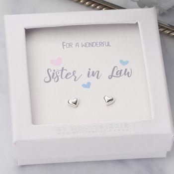 Sister In Law Sterling Silver Earrings