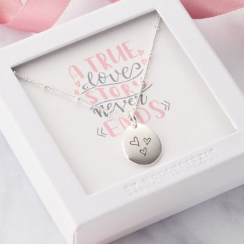 A True Love Story Never Ends Necklace