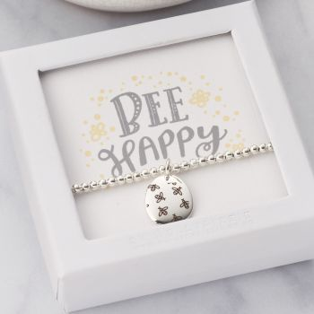 Bee Happy Beaded Bracelet