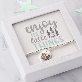 Enjoy The Little Things Beaded Bracelet-PB023