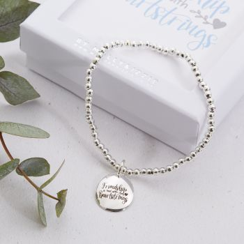 Friendship Is Tied With Heartstrings Beaded Bracelet-PB031