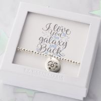 I Love You To The Galaxy And Back Beaded Bracelet