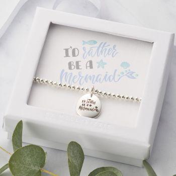 I'd Rather Be A Mermaid Beaded Bracelet-PB038
