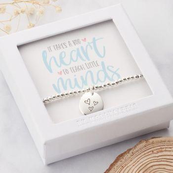 It Takes A Big Heart To Teach Little Minds Beaded Bracelet-PB010