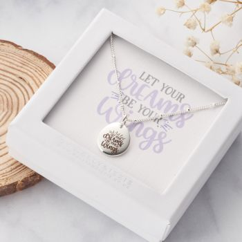 Let Your Dreams Be Your Wings Necklace