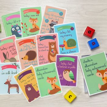 Wipeable Alternative Baby Achievement Cards