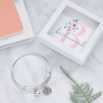 Wedding Party Member Bangle In Gift Box