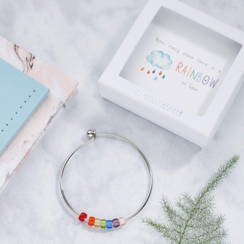 Rainbow Of Hope Bangle In Gift Box