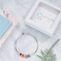 Rainbow Of Hope Bangle In Gift Box-BG006