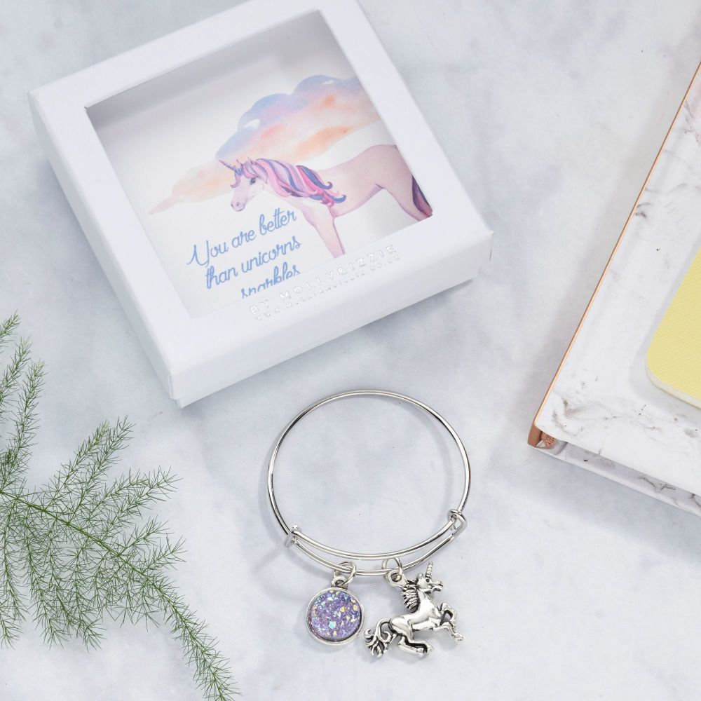 Unicorn Bangle In Gift Box
