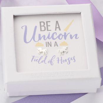 Be A Unicorn Sterling Silver Earrings ER008
