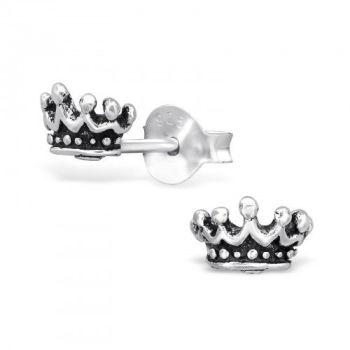 Crown Sterling Silver Earrings
