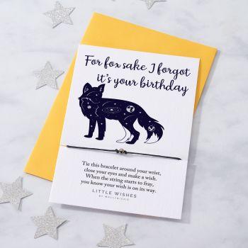 For Fox Sake - Forgot Birthday (WISH058)